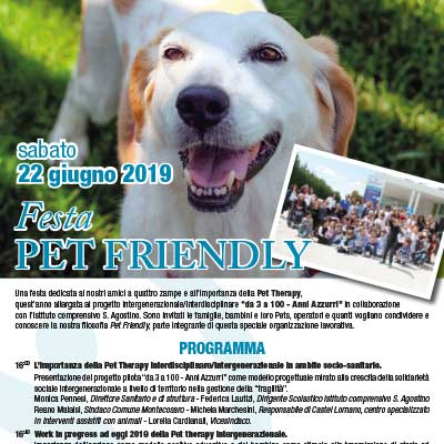 22 giugno 2019 - Festa Pet Friendly