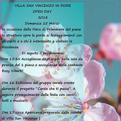 25 marzo 2018 - Open Day